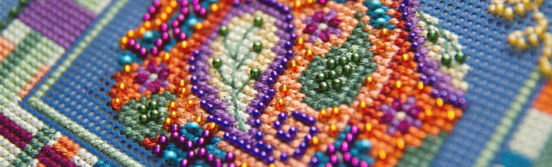 Какие швы использовать для вышивки бисером?