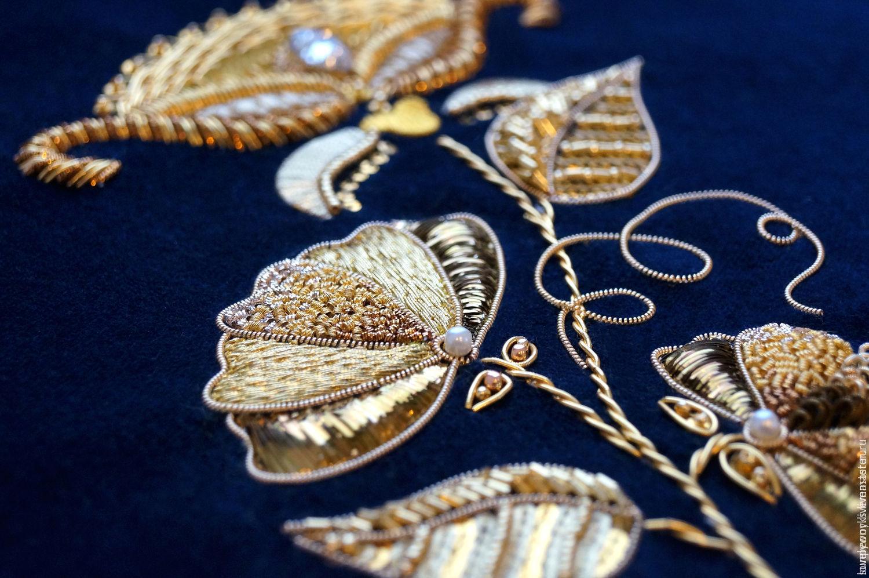 Виды вышивок. Золотая нить