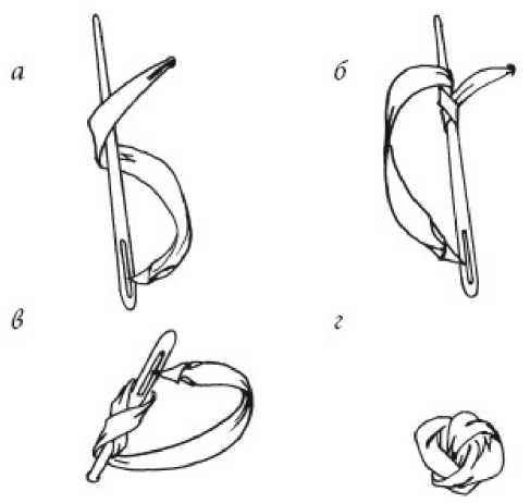 Колониальный узел лентами