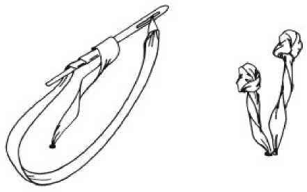 французский узелок лентой