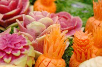 Карвинг из фруктов и овощей своими руками