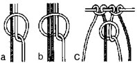 Макраме. Крепление нити. Соединительный узел