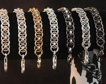 Кручение проволоки или Wire wrap браслет кольчужное плетение