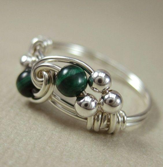 Кручение проволоки или Wire wrap кольцо