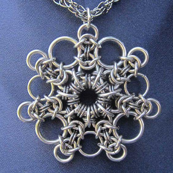 Кручение проволоки или Wire wrap кулон кольчужное плетение