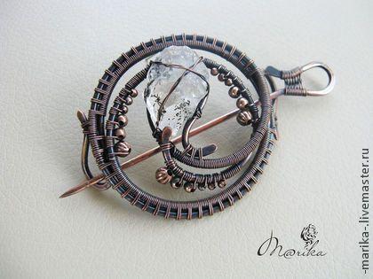 Кручение проволоки или Wire wrap заколка для одежды брошь