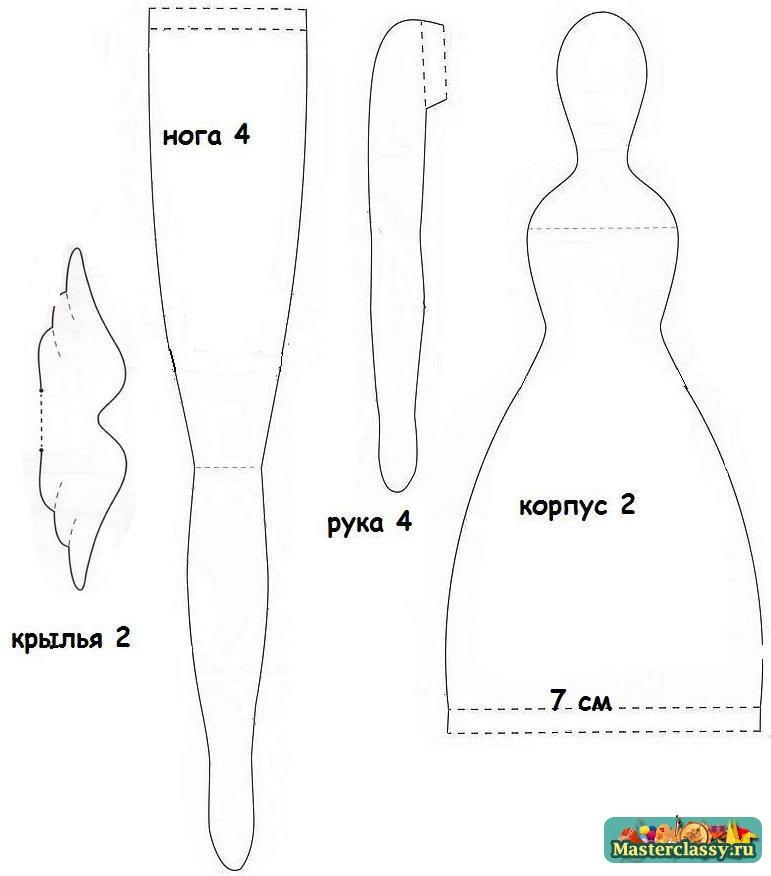 Текстильная кукла-тильда. Выкройка
