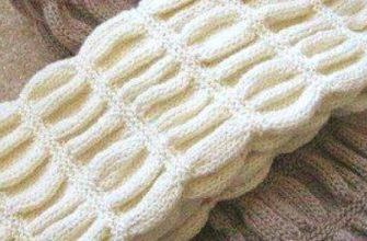 Как связать шарф гармошкой