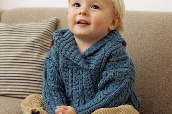 Нарядный пуловер с косами для мальчика
