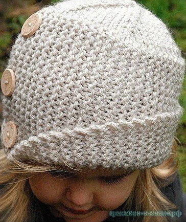 Как связать шляпку спицами для девочки