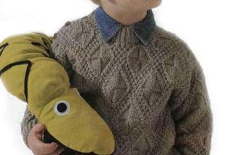Пуловер с красивым узором для мальчика