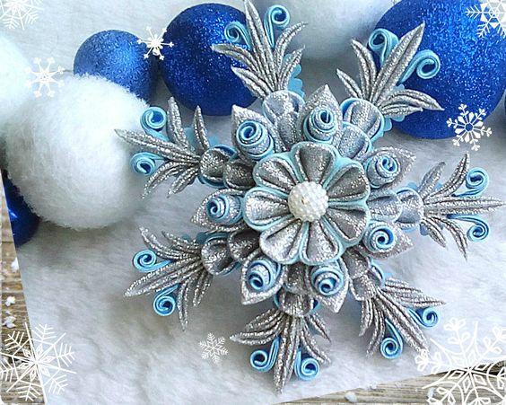 Канзаши для начинающих. Снежинка