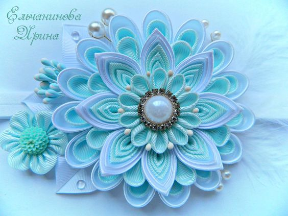 Канзаши для начинающих. Цветок