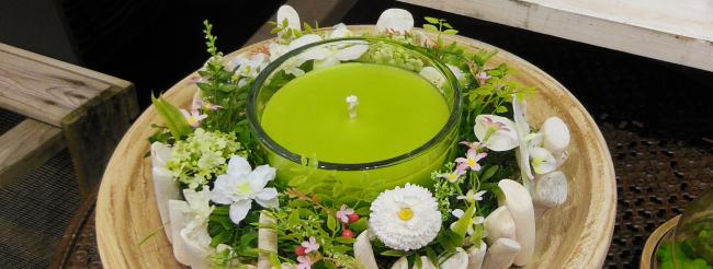 Декоративная свеча своими руками. Самый простой способ