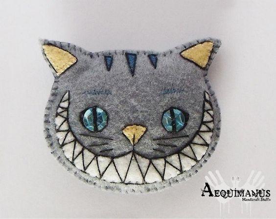 Чеширский кот из фетра