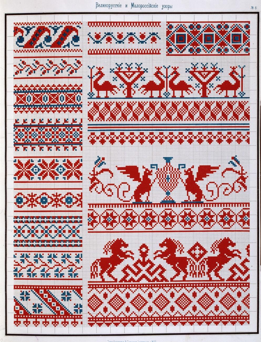Славянская обережная вышивка - Конь