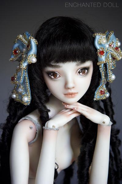 Интерьерная кукла из полимерной глины