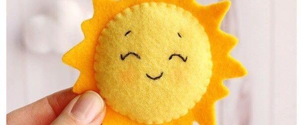 Мастер-класс игрушки из фетра «Солнышко»