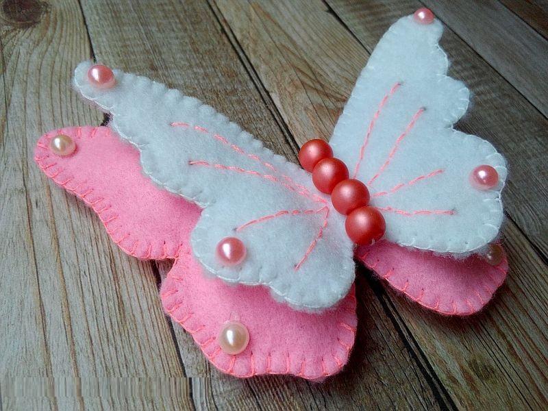 Мастер-класс игрушки из фетра «Бабочка»
