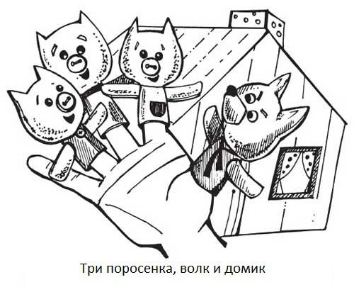 """Мастер-класс игрушки из фетра «Развивающая и пальчиковая» """"Три поросенка"""""""