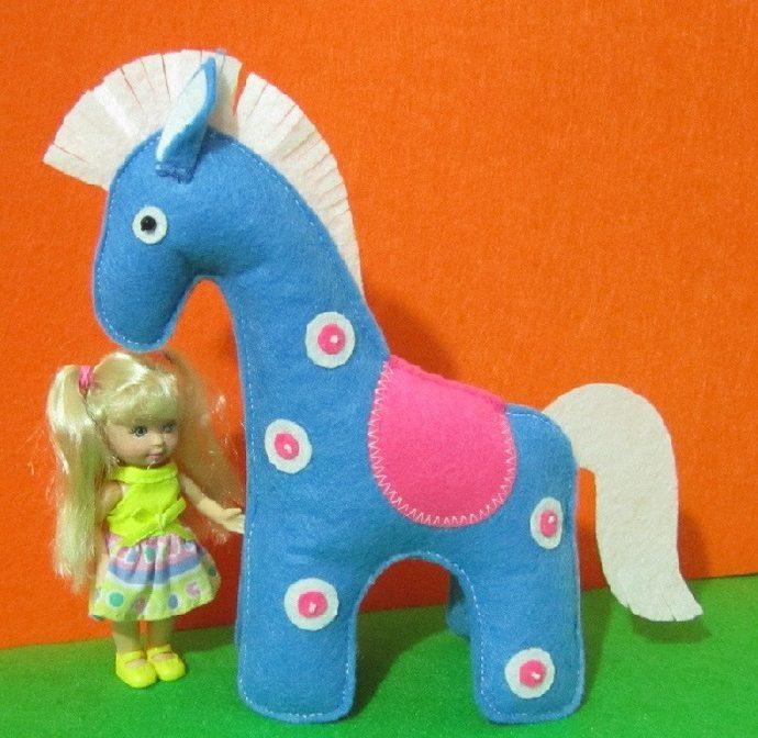 Мастер-класс игрушки из фетра «Лошадка» выкройка