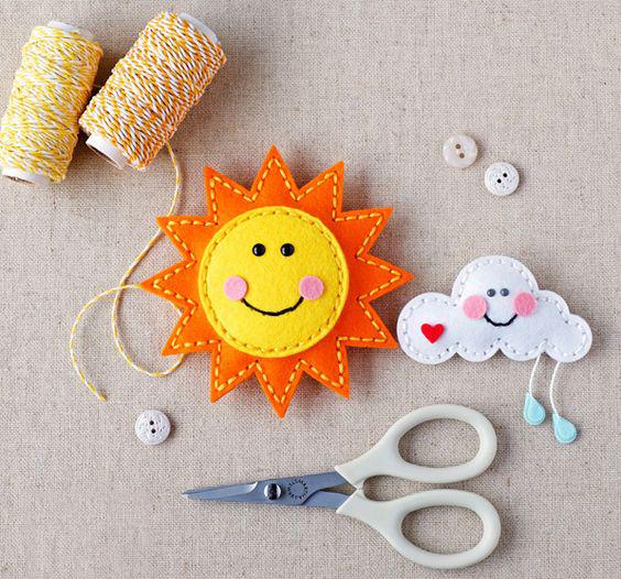 Мастер-класс игрушки из фетра «Летний день»