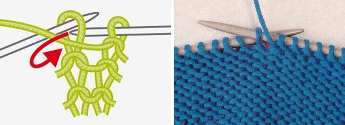Как вязать спицами изнаночные петли