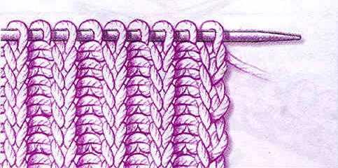 Как вязать резинку спицами