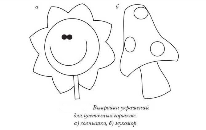 Украшения для цветочных горшков