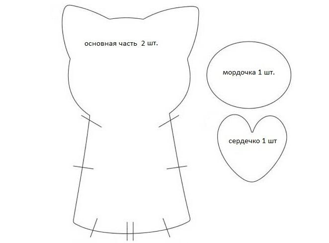 Кошка-валентинка