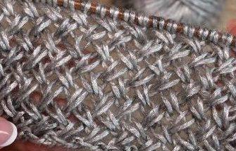 Ажурная плетенка спицами