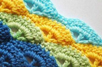 Узор крючком для разноцветной пряжи