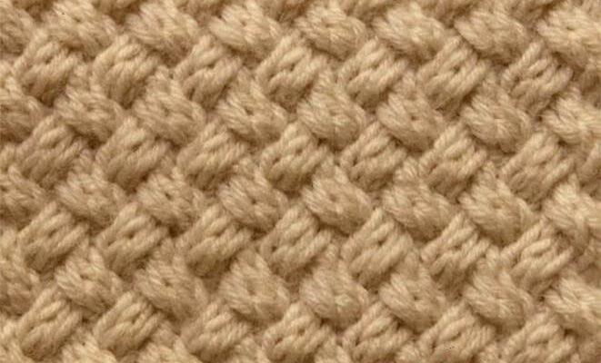 Узор спицами «плетенка 2*2»