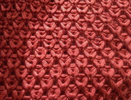 Узор спицами со снятыми петлями