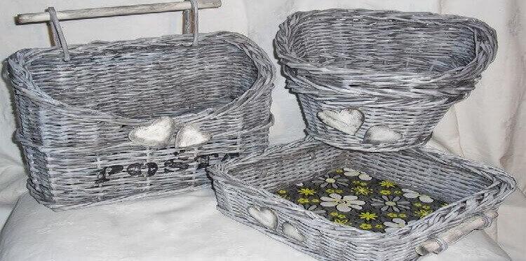 Какие бывают корзины из газет