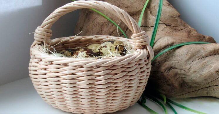 Плетение корзин из газетных трубочек