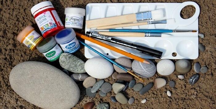Инструменты для росписи гальки