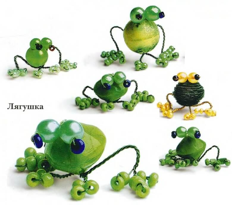 Лягушки двух видов