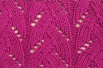 Плетеный ажурный узор спицами