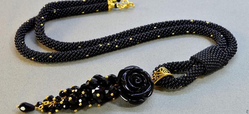 """Жгуты из бисера (не вязаные) + бонусы: волнистый браслет и цепочка """"Ромб"""""""