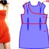 Моделирование платья с драпировкой