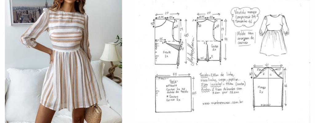 Моделирование платья на основе базовой выкройки