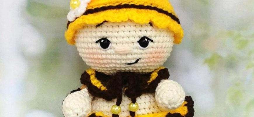 Малышка Пчёлка в технике амигуруми